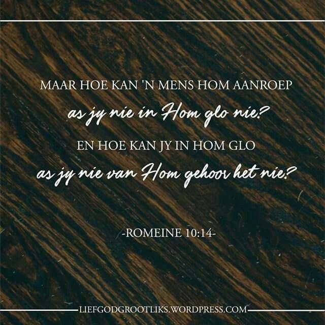 Jy is Vergewe – Die Boodskap van Vergifnis - Donderdag – Vandag se verse - Romeine 10:10-15  Wat beteken God se genade en barmhartigheid vir jou?