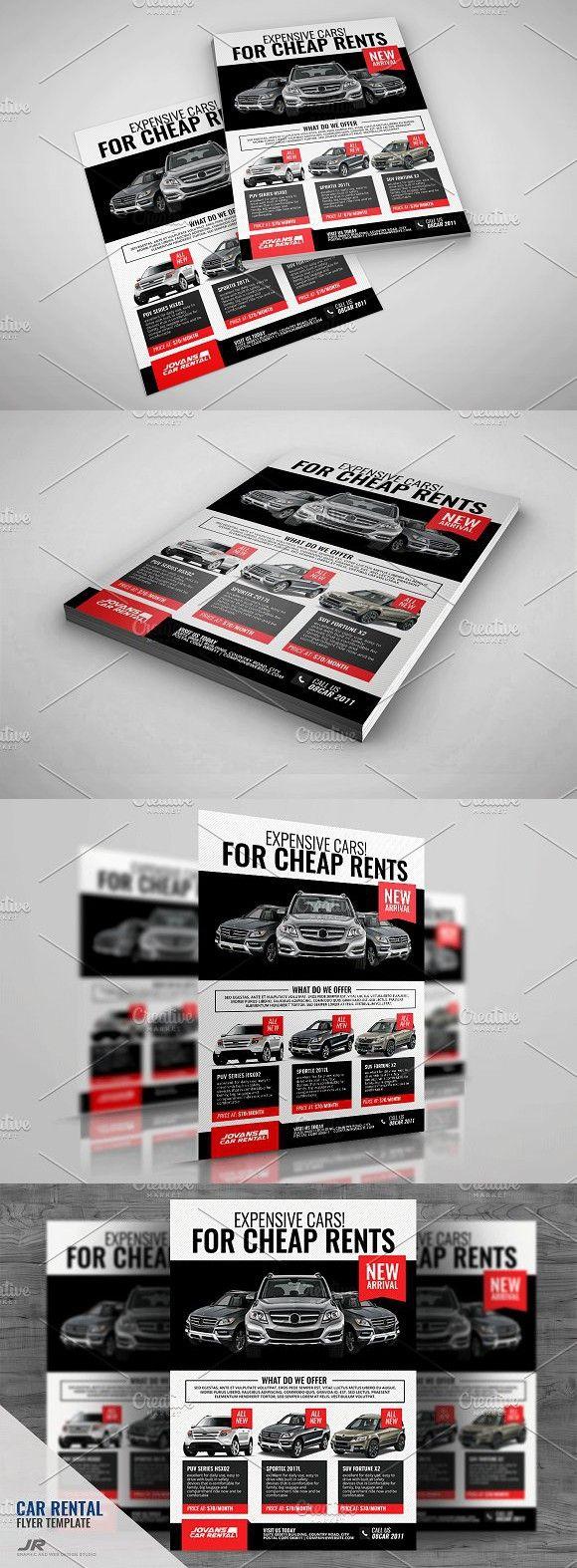 Car Rental and Dealership Flyer. A4 Flyer
