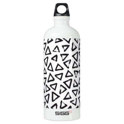 Brushstroke Triangel Pattern Scandinavian Design Water Bottle - minimal gifts style template diy unique personalize design