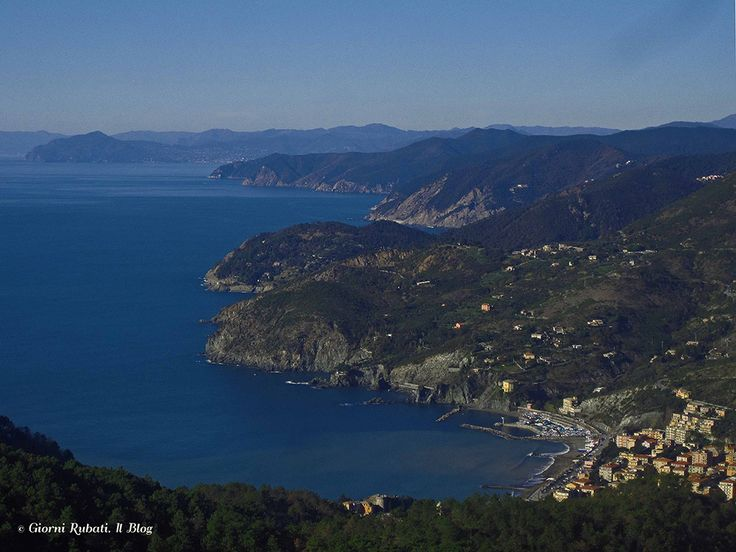 Levanto e la costa ligure da Colla Bagari
