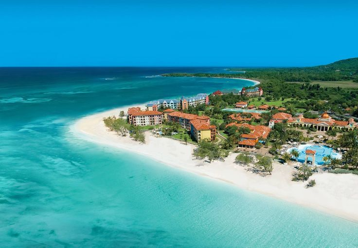 Watch both the sunrise and sunset each day from the two-mile long beach. #sandals whitehouse #jamaica