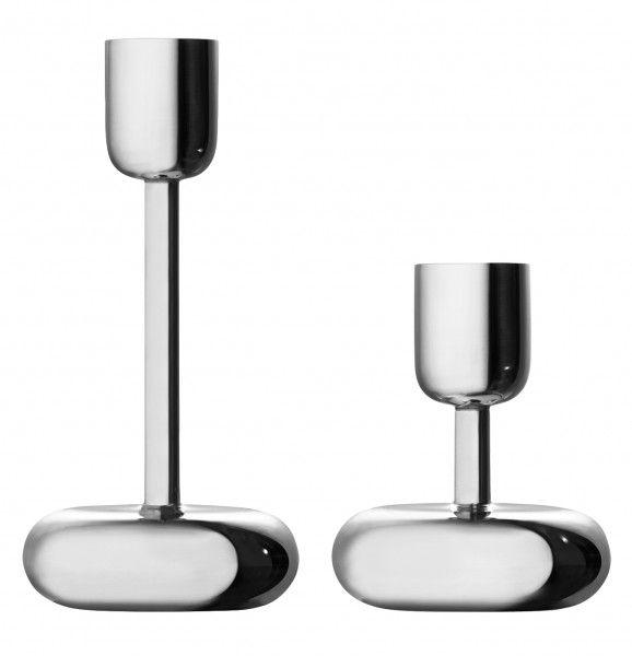Iittala Nappula Kerzenständer metallisiert Höhe 18,3 cm