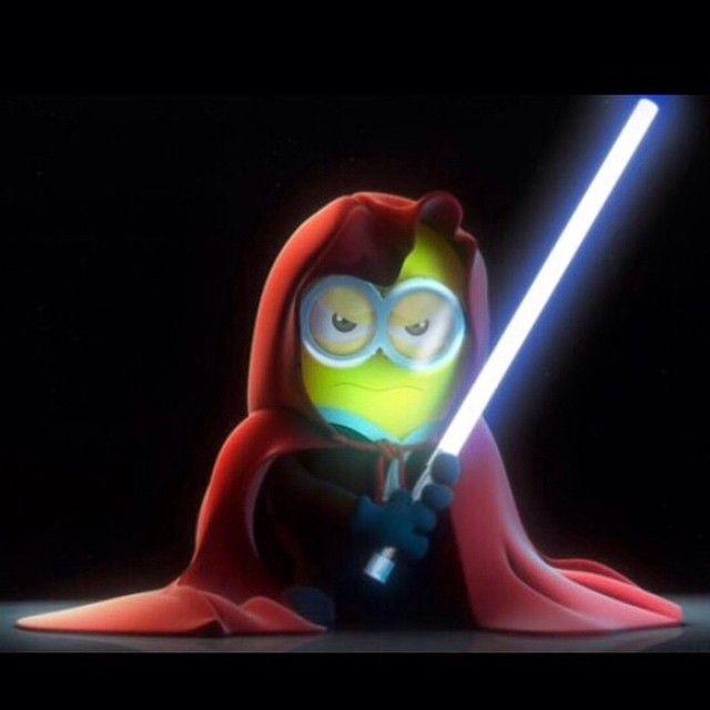 Que a força esteja com vocês! #starwars #luckyskywalker #jedi #minions #hahaha