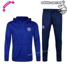 Ensemble De Survetement Homme Foot FC Chelsea hoodie Bleu 2016 2017 Nouveau   maillots-sport
