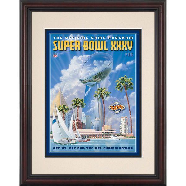 "Fanatics Authentic 2001 Baltimore Ravens vs. New York Giants 8.5"" x 11"" Framed Super Bowl XXXV Program - $59.99"