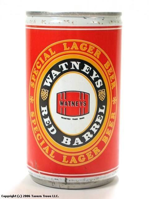 Can of Watneys Red Barrel