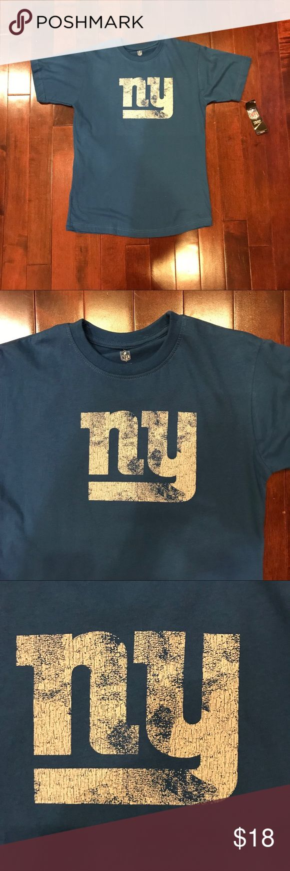 NWT Kids NFL New York Giants Eli Manning T-Shirt New with tags!  Great condition!  Eli Manning, New York Giants.  Cotton.  Medium - size 10/12.  Chest is 18 inches, length is 25.5 inches. NFL Apparel Shirts & Tops Tees - Short Sleeve