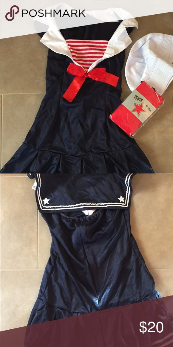 Sexy sailor halloween costume, NWOT Sexy sailor halloween costume, NWOT. Size m/l. Comes with hat & unopened tights Other