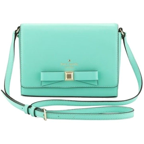 Pre-owned Kate Spade Holly Street Rubie In Turquoise Cross Body Bag ($113) ❤ liked on Polyvore featuring bags, handbags, shoulder bags, turquoise, turquoise cross body purse, kate spade, crossbody handbags, blue crossbody и pre owned handbags