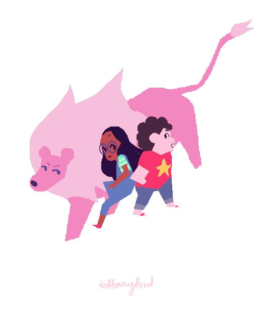 From color stylist Tiffany Ford:  Hey guys! Don't miss tonight's new episode of Steven Universe, LION 2: THE MOVIE! new night new time : 7PM @ Cartoon Network