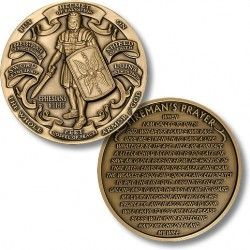 Armor of God High Relief - Fireman's Prayer Challenge Coin