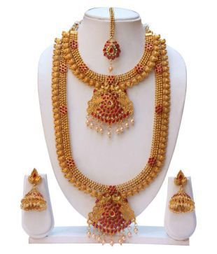 fb5671f5b4 Swarajshop Haram Necklace Set: Buy Swarajshop Haram Necklace Set Online in  India on Snapdeal. Find this Pin and more on Indian bridal ...