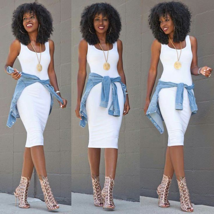 White dress with a splash of color