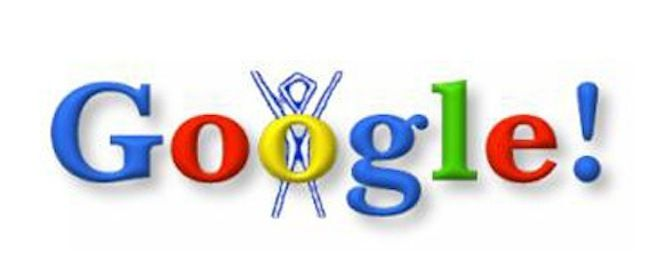 The First Google Doodle Was a Burning Man Stick Figure The first Google Doodle was an out-of-office message.  The day was August 30, 1998 - The Atlantic