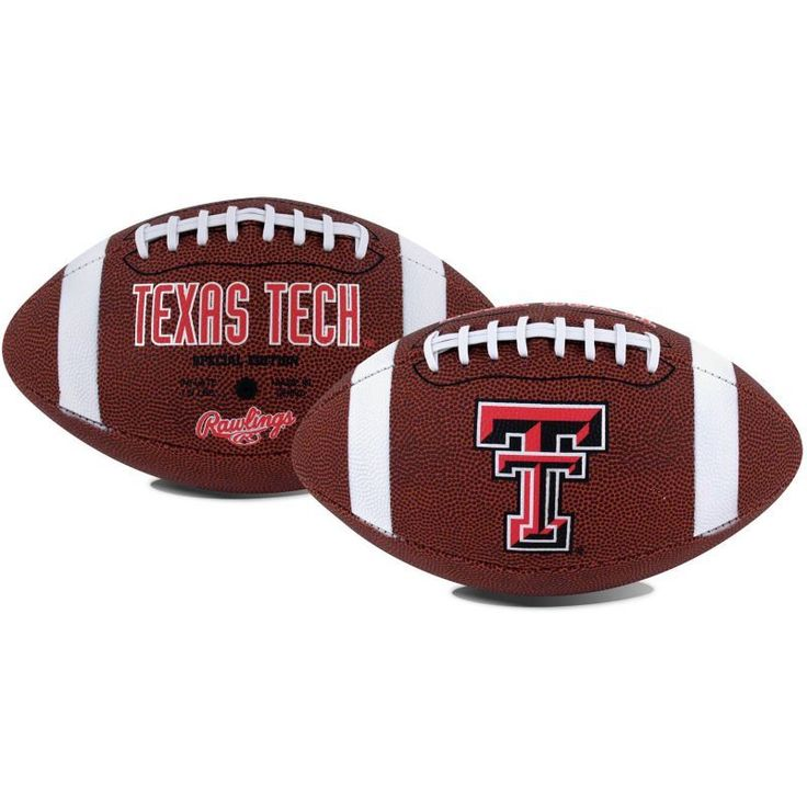 Rawlings Texas Tech Red Game Time Full-Size Football, Team