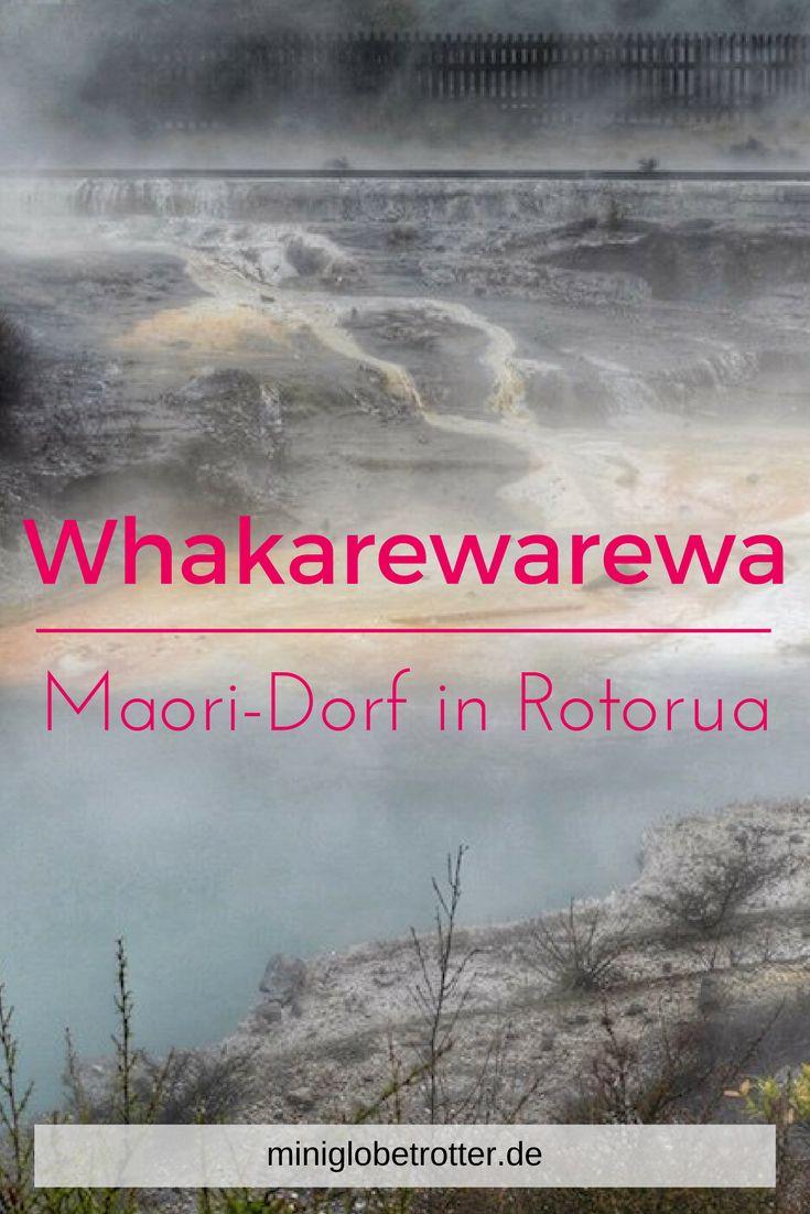 Whakarewarewa Village befindet sich mitten in Rotorua in Neuseeland. Ein Maori-Dorf mitten in einem geothermalen Bereich, perfekt, wenn man mit Kindern in kurzer Zeit viele Neuseeland-Erlebnisse erleben will. (scheduled via http://www.tailwindapp.com?utm_source=pinterest&utm_medium=twpin)