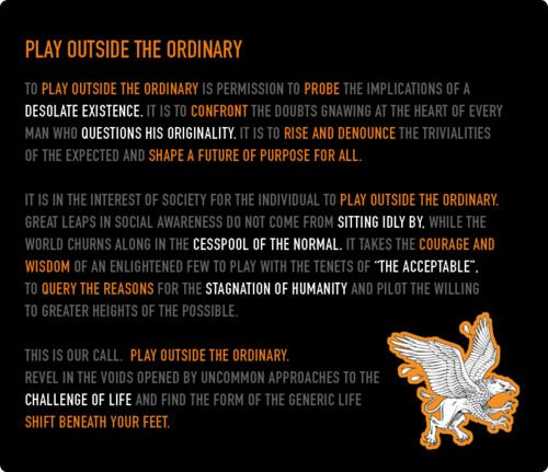 Play Outside the Ordinary