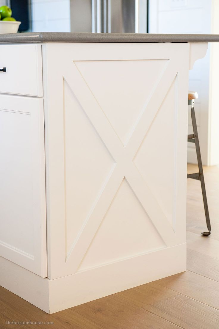 diy kitchen cabinet x style detail from our fixer upper farmhouse kitchen reveal | www.theharperhouse.com