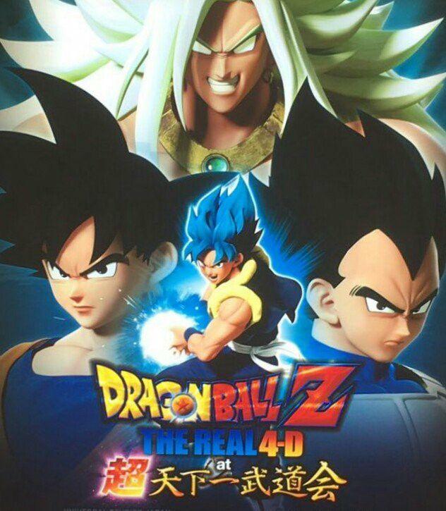 Dbz Real 4-D: The Broly God vs Gogeta Ssj Blue ^_^