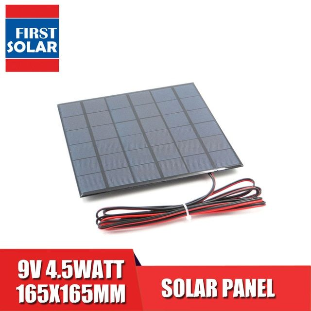 9v 4 5watt With 200cm Extend Cable Solar Panel Polycrystalline Silicon Diy Battery Charger Module Mini Solar Cell Wire Toy Review Solar Cell Solar Panels Solar