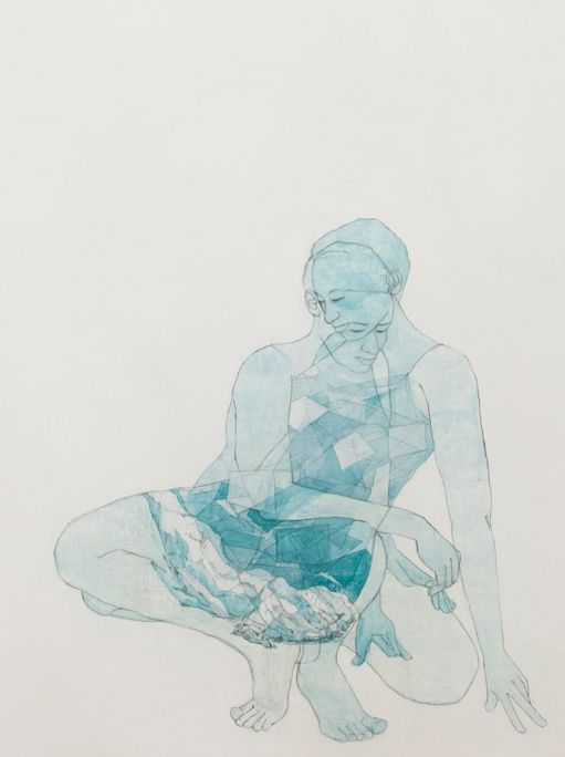 Pamela Phatsimo Sunstrum, 'Magnolious' (2015), Watercolour, pencil and marble dust gesso on wood panel, 160 x 120cm