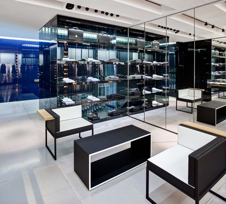 The new Dior Homme flagship store in New York, clean luxury retail space _