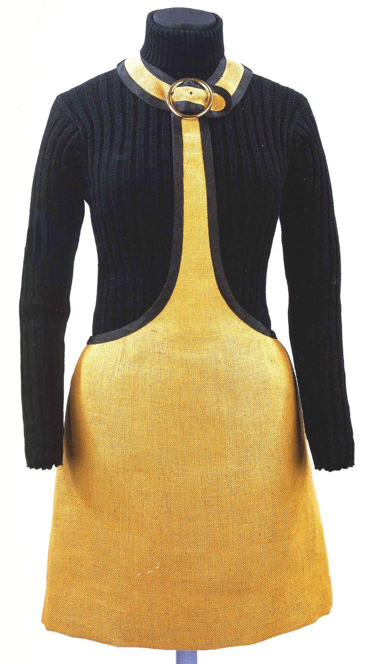 Mary Quant. Natural Hessian, acrylic pinafore, 1965.