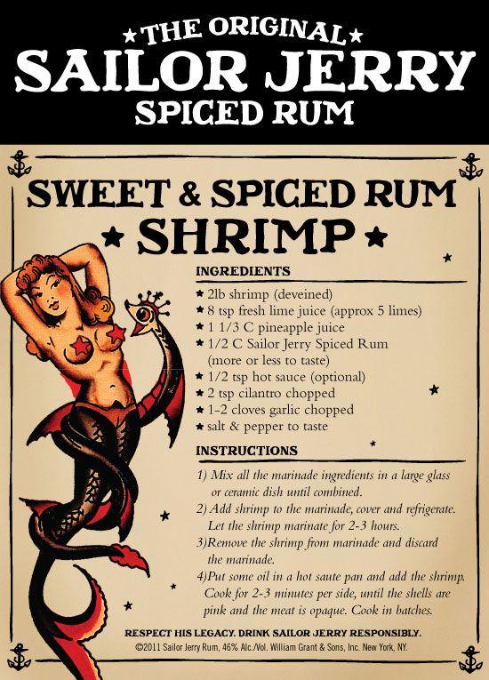 Sailor Jerry Sweet & Spiced Rum Shrimp