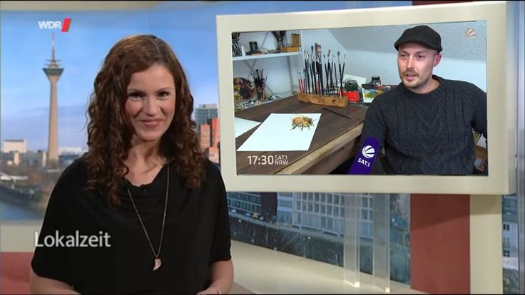 German TV about my 3D drawing works/ Stefan Pabst paintings Trick Art painting