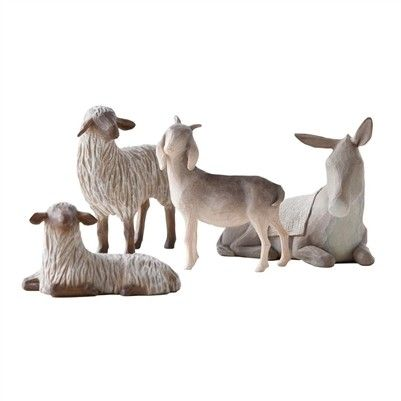 Willow Tree - Nativity Collection - The holy family sheltering animals $46 - Australian store. International shipping available