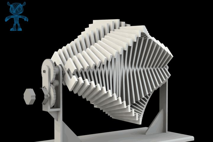Kinetic Sculpture - SketchUp,Parasolid,SOLIDWORKS,Autodesk 3ds Max,OBJ,STEP / IGES,STL - 3D CAD model - GrabCAD