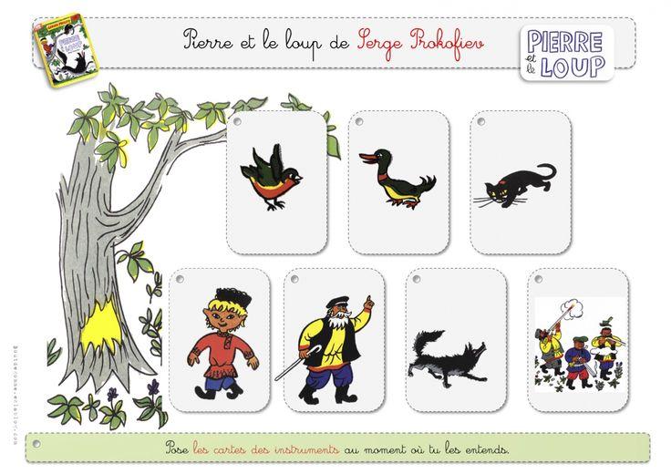 jeu de cartes pour reconnaître les instruments de musique à partir de Pierre et et le Loup