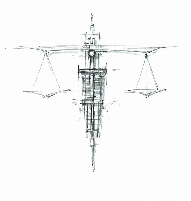 Image detail for -Scales of Justice sketch