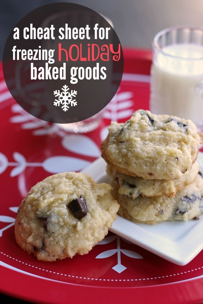 A Cheat Sheet for Freezing Holiday Baked Goods - Life as Mom - Ready to get baking for the holidays? Here's a cheat sheet for freezing your holiday baked goods. Make them now and enjoy them later.