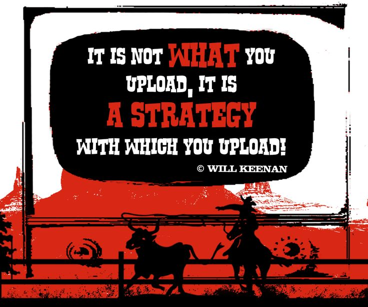 its Not what you upload, it's a strategy with which you upload. - Will Keenan #Crowdfunding#Startup #Video#Fundraising#Pitch_Video