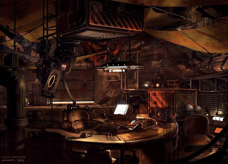 Control room, hacker, cyberpunk, tech
