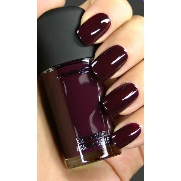 Dark Nail Polish Shades In Green, Maroon and Pink ❤ liked on Polyvore featuring beauty products, nail care, nail polish and nai