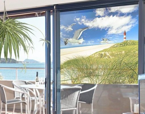 Fensterfolie - Sichtschutz Fenster Dune...