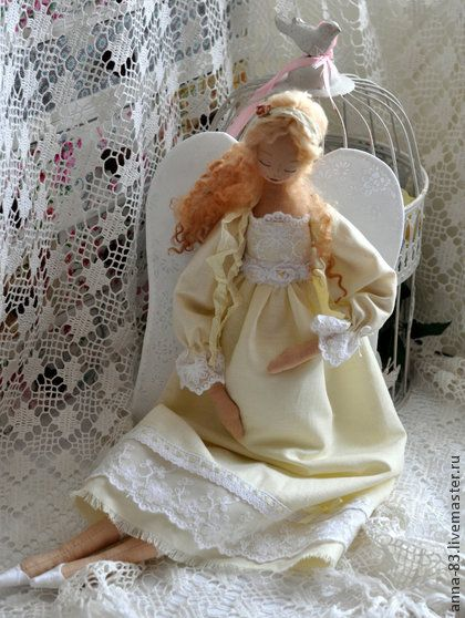 """Коллекционные куклы ручной работы. Ярмарка Мастеров - ручная работа Ангел """"Новая жизнь"""". Handmade."""