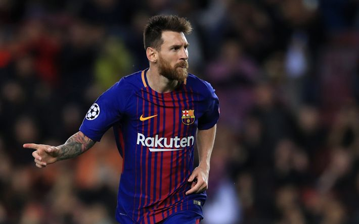 Download wallpapers Lionel Messi, 2018, Barcelona, goal, La Liga, Spain, Barca, Messi, FC Barcelona, football stars, Leo Messi