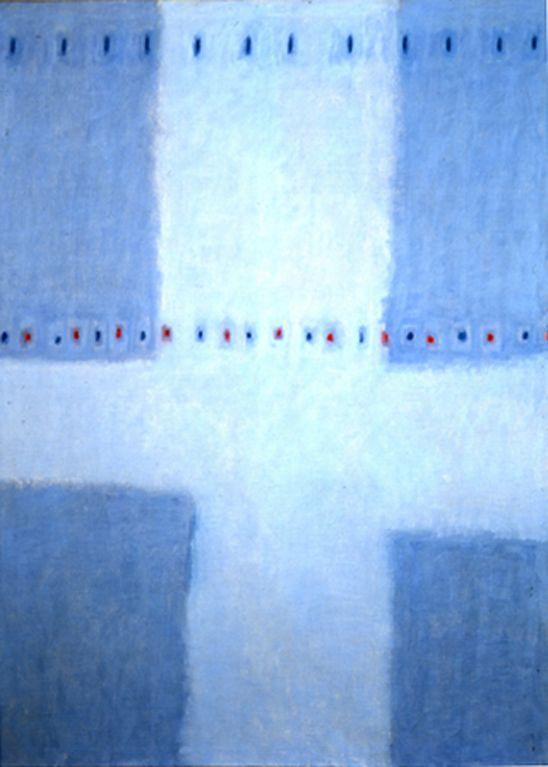 (Korea) The Eternal Song by Whanki Kim. Oil on canvas. 영원을 노래하다. 김환기.