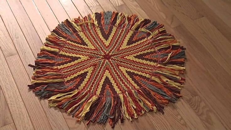 17 Best Images About Wagon Wheel Rug Making Rag Rugs On