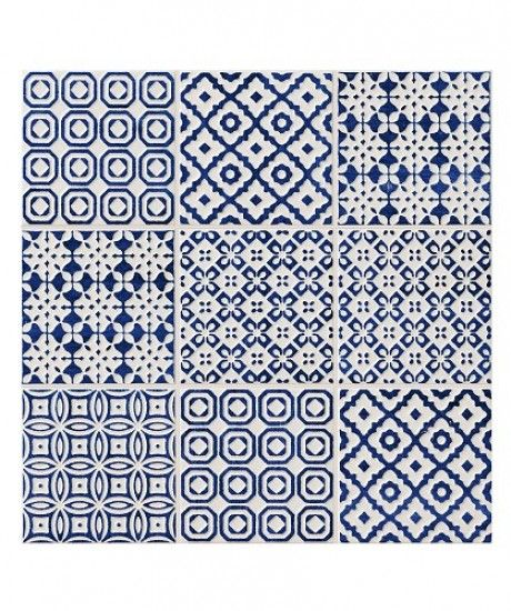 Batik Patchwork Blue tile from Topps Tiles | Budget wall tiles | PHOTO GALLERY | Style at Home | Housetohome.co.uk