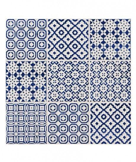 batik tile | Batik Patchwork Blue tile from Topps Tiles | Budget wall tiles | PHOTO ...