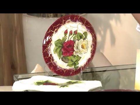 Prato de vidro em craquele - YouTube