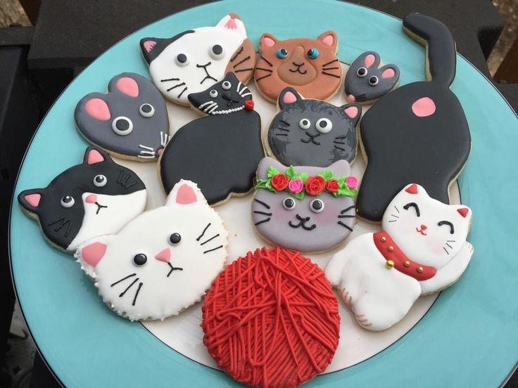 cats cats cats ~ Judy Hannon ~ Dark Side Cookies