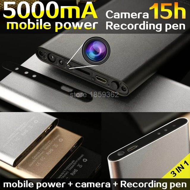 5000mAh mobile power bank Mini Camera DV 1080p HD Micro Camcorder Night Vision Cam Voice device Video Recorder Espia US $61.99-75.15 To Buy Or See Another Product Click On This Link  http://goo.gl/EuGwiH
