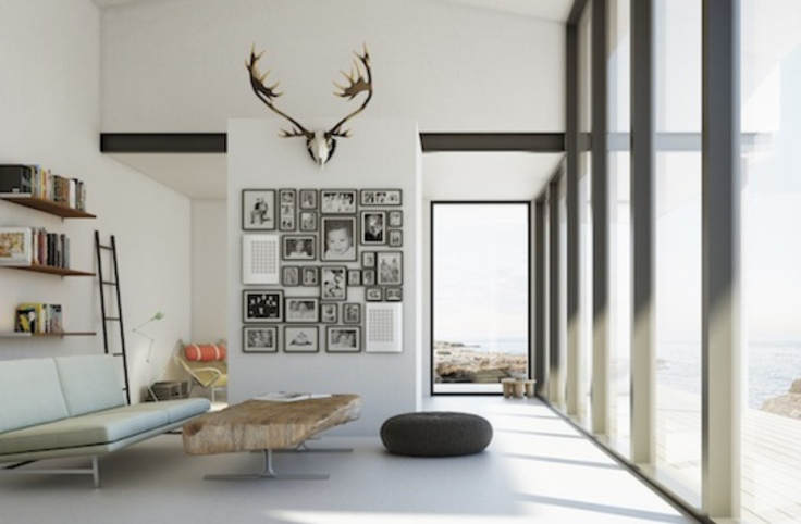 Sleek Scandinavian Living Room Livings Rooms Pinterest