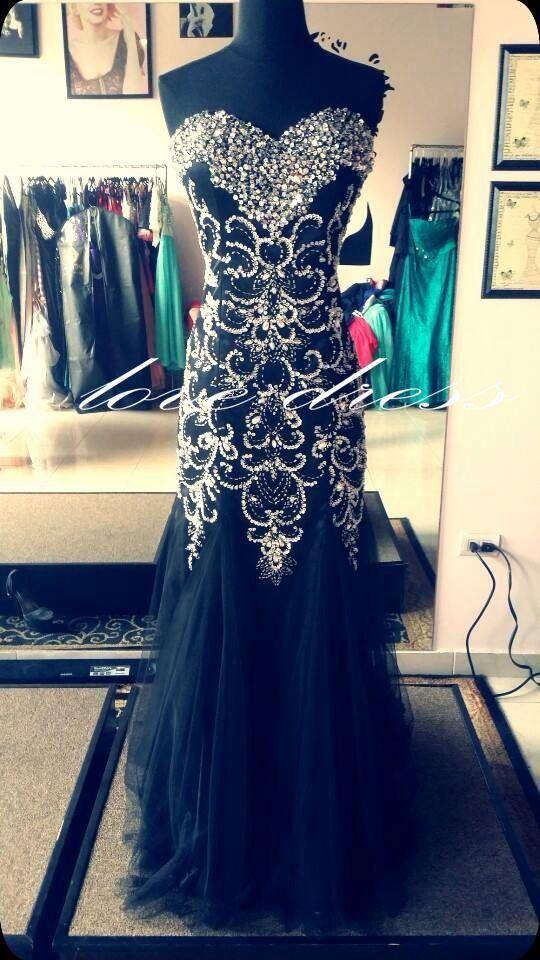 Black Strapless Long Prom Dresses/Evening Dress