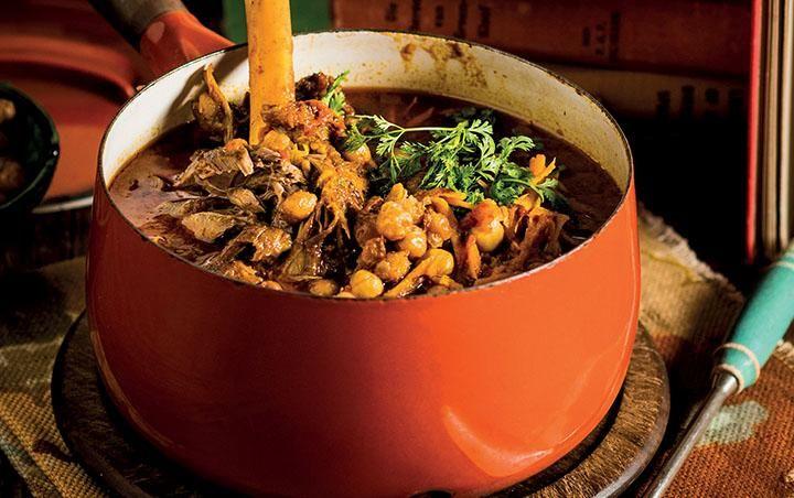 Moroccan harira lamb shank stew